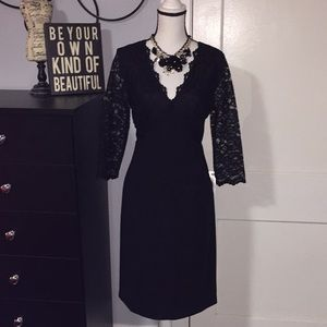 Black Lace Dress Sz 8